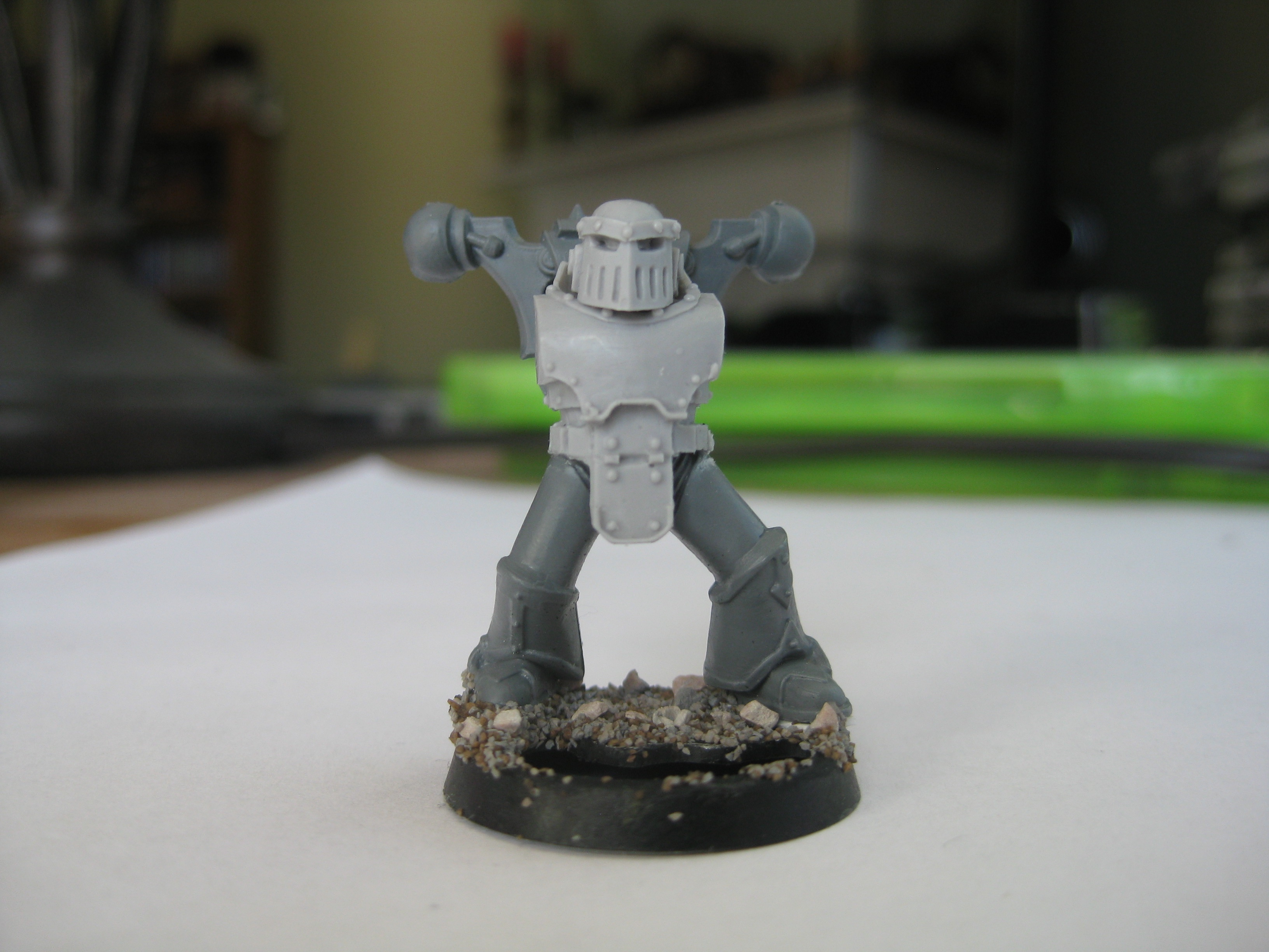 Chaos Space Marine Squad Head x2
